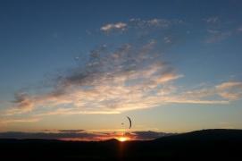 E-glider cruise sunset